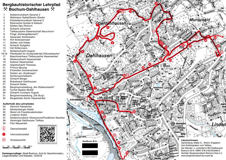 Geologische Karte Ruhrgebiet.Bergbaulehrpfad Bochum Dahlhausen